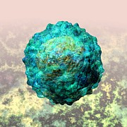 Virion Art - Polio virus particle or virion poliovirus 1 by Russell Kightley