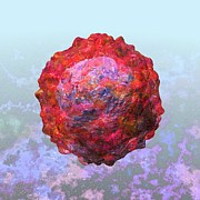 Virion Art - Polio virus particle or virion poliovirus 2 by Russell Kightley