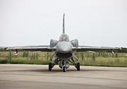 Polish F-16c Block 52 At Albacete Print by Timm Ziegenthaler