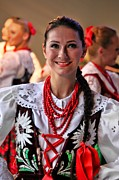 Mariola Framed Prints - Polish Folk Dancing Girl Framed Print by Mariola Bitner