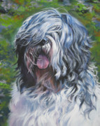 Sheepdog Paintings - Polish lowland Sheepdog by Lee Ann Shepard