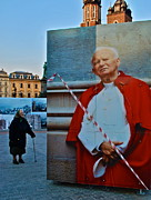 Cracow Art - Polish Pope in Cracow by Dorota Nowak