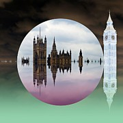 Big Ben Posters - Political Bubble Poster by Sharon Lisa Clarke