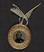 Political Campaign Button For 1864 Print by Everett