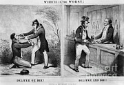 Political Artwork Art - Political Cartoon Advocating Temperance by Photo Researchers