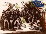 President Jefferson Posters - Political Cartoon Of The Confederacy Poster by Photo Researchers