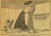 Limitations Posters - Political Cartoon Shows Woman Peering Poster by Everett