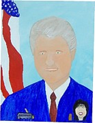 Politics Paintings - Political Pocketpool Clinton by Denny Pinkham