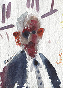 Watercolor Figure Painting Prints - Politician Print by Donald Maier