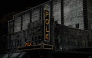 Old Times Digital Art - Polk Movie House by David Lee Thompson