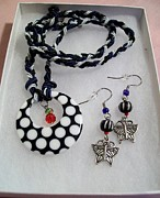 Woman Gift Jewelry - Polkadot Butterfly by Kristin Lewis