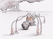 Caricature Drawings - Pollution by Samedin Latifi
