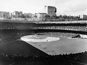 Baseball Game Framed Prints - Polo Grounds, During The 1937 World Framed Print by Everett