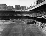 New York Giants Prints - Polo Grounds, During The First Game Print by Everett