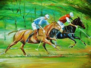Polo Horses Print by Unique Consignment