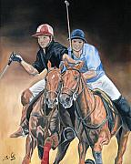 Polo Paintings - Polo by Jana Goode
