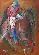 Temperament Art - Polo player by Vered Thalmeier