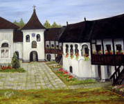 Icons Prints Painting Originals - Polovragi Monastery Romania by Dorothy Maier