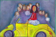 Little Girls98 Paintings - Pom Pom Pam by Ricky Sencion