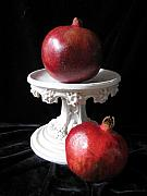 Pedestal Framed Prints - Pomegranate Deux Framed Print by Lindie Racz