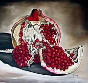Pomegranate Posters - Pomegranate Poster by Ilse Kleyn