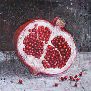 Paiting Metal Prints - Pomegranate Metal Print by Lolita Bronzini