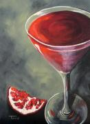 Torrie Smiley Metal Prints - Pomegranate Martini  Metal Print by Torrie Smiley