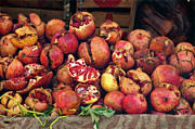 Marketplace Prints - Pomegranates Print by Marion Galt