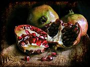 Layered Prints - Pomegranates n.2 Print by Silvia Ganora