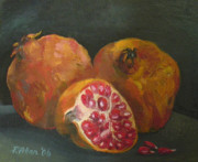 Scottish Art Originals - Pomegranates by Peter Allan