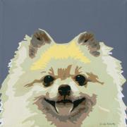 Dog Pop Art Paintings - Pomeranian by Slade Roberts