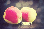 Apples Mixed Media - Pommes by Angela Doelling AD DESIGN Photo and PhotoArt