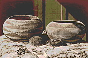 Padre Art Photos - Pomo Baskets and Magnesite Beads by Padre Art