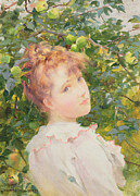 Orange Prints - Pomona Print by George Hillyard Swinstead