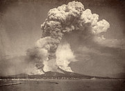 Natural Disaster Photos - Pompeii: Mount Vesuvius by Granger