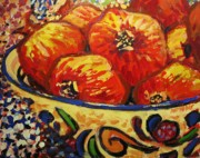 Fruit Paintings - Poms by Brian Simons