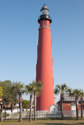 Florida House Photos - Ponce Inlet Lighthouse by Clarence Holmes