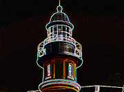 New England Lighthouse Mixed Media Prints - Ponce Inlet Lighthouse Print by Dennis Dugan