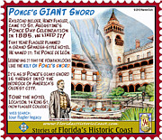 St. Augustine Mixed Media Posters - Ponces Giant Sword Poster by Warren Clark