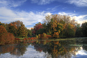 Pond In Park Framed Prints - Pond in the Park Framed Print by Richard Gregurich
