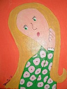 Jeannie Atwater Painting Originals - Pondering Blond by Jeannie Atwater Jordan Allen