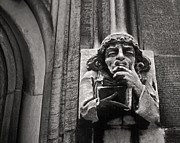 Joseph Duba Metal Prints - Pondering Gargoyle v.1 University of Chicago 1976 Metal Print by Joseph Duba