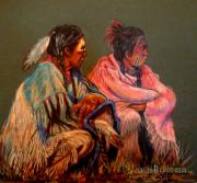 Indian Pastels Prints - Pondering The Way Print by Susan Bergstrom