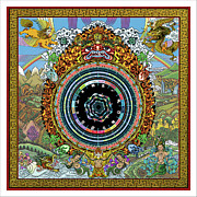 Tibet Digital Art Prints - Pons Pulse Mandala Working Print by Mark Myers