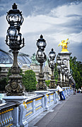 Lightposts Prints - Pont Alexander III in Paris Print by Elena Elisseeva