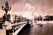 Paris Fine Art By Kathy Fornal Prints - Pont Alexandre Bridge Over The Seine Print by Kathy Fornal