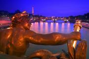 Cherub Art - Pont Alexandre Iii And Cityscape Paris by Carson Ganci