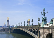Painted Image Posters - Pont Alexandre-iii Bridge Poster by Datacraft Co Ltd