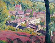 Nabis Paintings - Pont Aven Seen from the Bois dAmour by Emile Bernard