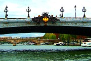 Gild Framed Prints - Pont dAlexandre III Framed Print by RL Rucker